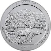 USA Quarter Dollar Olympic National Park - WA 2011 KM# 515 OLYMPIC WASHINGTON 2011 E PLURIBUS UNUM coin reverse