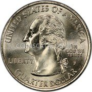 USA Quarter Dollar US Virgin Islands 2009 KM# 449 UNITED STATES OF AMERICA QUARTER DOLLAR LIBERTY IN GOD WE TRUST coin obverse