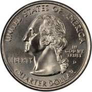 USA Quarter Dollar Vermont 2001 D KM# 321 UNITED STATES OF AMERICA QUARTER DOLLAR LIBERTY IN GOD WE TRUST coin obverse