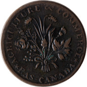 Canada Sou Banque du Peuple ND KM# Tn3 *AGRICULTURE & COMMERCE* BAS-CANADA coin obverse