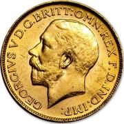 Canada Sovereign George V 1918 C KM# 20 GEORGIVS V D.G.BRITT:OMN:REX F.D.IND:IMP: coin obverse
