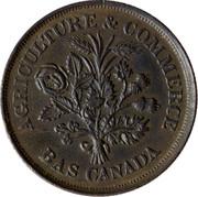Canada Un Sou Lower Canada Banque du Peuple ND KM# Tn4a AGRICULTURE & COMMERCE BAS CANADA coin obverse