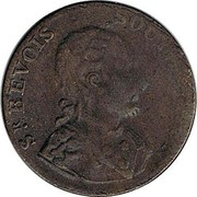 UK 1/2 Penny Sir Bevois Southampton - North Wales ND  SR. BEVOIS SOUTHAMPTON coin obverse