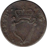 UK 1/2 Penny Sir Bevois Southampton - North Wales ND  NORTH WALES coin reverse
