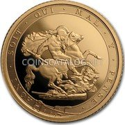UK 1/2 Sovereign 200 Years of the Modern Sovereign 2017 Proof HONI SOIT QUI MAL Y PENSE coin reverse