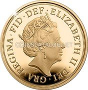 UK 1/4 Sovereign Quarter Sovereign 2018 65th anniversary of the coronation Privy 2018 B.P. coin reverse