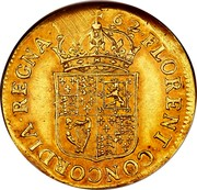 UK 1 Broad Charles II Pattern strike 1662 KM# Pn32 16 62∙FLORENT∙CONCORDIA∙REGINA∙ coin reverse