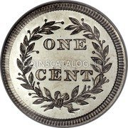 USA 1 Cent Cent Pattern 1853 Proof  coin reverse