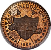 USA 1 Cent Pattern 1896 KM# Pn1860 E ∙ PLURIBUS ∙ UNUM LIBERTY 1896 coin obverse