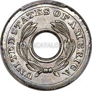 USA 1 Cent Ring Cent Pattern ND (1851) UNITED STATES OF AMERICA coin obverse