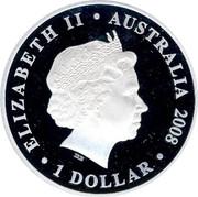 Australia 1 Dollar America's Cup Victory 1983-2008 2008 P Proof ELIZABETH II AUSTRALIA 2008 1 DOLLAR IRB coin obverse
