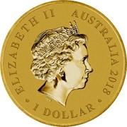Australia 1 Dollar Anzac Day Lest We Forget 2018 P BU ELIZABETH II AUSTRALIA 2018 1 DOLLAR coin obverse