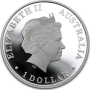 Australia 1 Dollar Australian Antarctic Territory Series Elephant Seal 2015 Proof ELIZABETH II AUSTRALIA 1 DOLLAR coin obverse