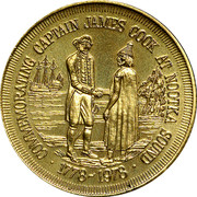 Canada 1 Dollar Captain James Cook at Nootka Sound 1978 UNC COMMEMORATING CAPTAIN JAMES COOK AT NOOTKA SOUND 1778-1978 coin reverse