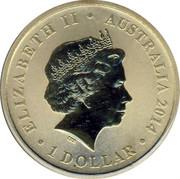 Australia 1 Dollar Congratulations on Yor Baby 2014 UNC ELIZABETH II AUSTRALIA 1 DOLLAR 2014 IRB coin obverse