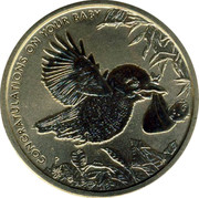 Australia 1 Dollar Congratulations on Yor Baby 2014 UNC CONGRATULATIONS ON YOUR BABY P AH coin reverse