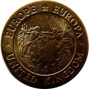 UK 10 ECU St.George and the Dragon 1992 UNC X# 17 EUROPE EUROPA UNITED KINGDOM coin obverse