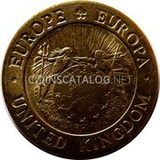 UK 10 ECU St.George and the Dragon 1992 UNC EUROPE EUROPA UNITED KINGDOM coin obverse