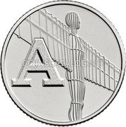 UK 10 Pence (A - Angel of the North) A coin reverse