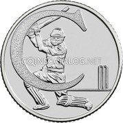 UK 10 Pence (C - Cricket) C coin reverse