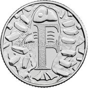 UK 10 Pence (F - Fish & Chips) F coin reverse