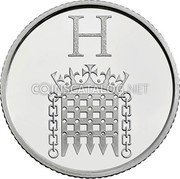 UK 10 Pence (H - Houses of Parliament) H coin reverse