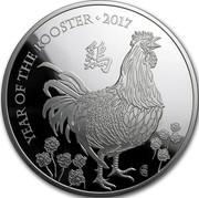 UK 10 Pounds Year of the Rooster 2017 Proof YEAR OF THE ROOSTER 2017 coin reverse