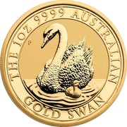 Australia 100 Dollars Australian Swan 2018 P BU THE 1 OZ 9999 AUSTRALIAN GOLD SWAN P coin reverse
