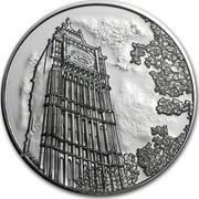 UK 100 Pounds Big Ben 2015 KM# 1328 LC-GD coin reverse