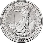 UK 100 Pounds Britannia 2018 'BRITANNIA'2018' 1 OZ '999.5'PLATINUM' NATHAN coin reverse