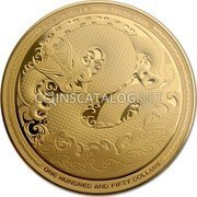 New Zealand 150 Dollars Taniwha 2017 Proof KOTAHI RAU E RIMA TEKAU TARA ONE HUNDRED AND FIFTY DOLLARS coin reverse