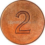 New Zealand 2 Cents 2 Cents Pattern ND (1966)  Pattern 2 coin obverse