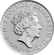 1 oz Fine Silver 2016 United Kingdom 2 Pounds Elizabeth II