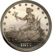 USA 20 Cents Pattern 1875 Proof KM# Pn1464 coin obverse
