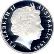 Australia 20 Cents United nations Fiftieth Anniversary 1998 Proof KM# 295a ELIZABETH II AUSTRALIA 1998 IRB coin obverse