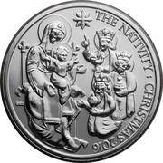 UK 20 Pounds The Christmas Nativity Story 2016 THE NATIVITY : CHRISTMAS 2016 GKC coin reverse