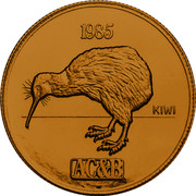 New Zealand 200 Dollars (1 Ounce) 1 Ounce (Kiwi) 1985 X# 22 1985 KIWI AC&B coin obverse