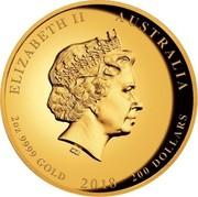 Australia 200 Dollars In Flanders Fields 2018 P Proof ELIZABETH II AUSTRALIA 2OZ 9999 GOLD 2018 200 DOLLARS IRB coin obverse