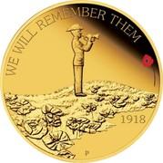 Australia 25 Dollars We Will Remember Them 2018 P Proof WE WILL REMEMBER THEM 1918 coin reverse