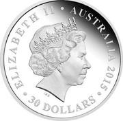 Australia 30 Dollars The ANZAC Spirit - Lest We Forget 2015 Proof ELIZABETH II AUSTRALIA 2015 30 DOLLARS IRB coin obverse