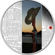 Australia 30 Dollars The ANZAC Spirit - Lest We Forget 2015 Proof 1 KILO 999 SILVER WR coin reverse
