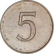 New Zealand 5 Cents 5 Cents Pattern ND (1966) Pattern 5 coin obverse