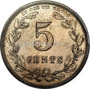 USA 5 Cents (Half Dime, Half Disme) Pattern 1867 24-36 known  coin reverse