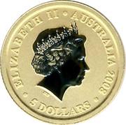 Australia 5 Dollars Australian Kangaroo 2008 UNC ELIZABETH II AUSTRALIA 2008 5 DOLLARS coin obverse