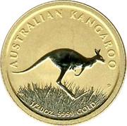 Australia 5 Dollars Australian Kangaroo 2008 UNC AUSTRALIAN KANGAROO 1/20 OZ. 9999 GOLD coin reverse