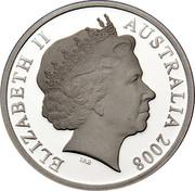 Australia 5 Dollars Aviation History Airbus A380 2008 Proof KM# 1073 ELIZABETH II AUSTRALIA 2008 coin obverse
