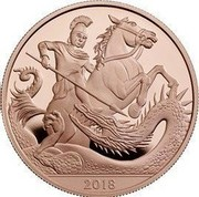 UK 5 Pounds Prince George 5th Birthday 2018 Proof 2018 coin reverse