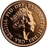 UK 5 Pounds (Sovereign series) ELIZABETH∙II∙DEI∙GRA REGINA∙FID∙DEF JC coin obverse