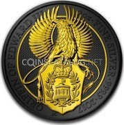 UK 5 Pounds The Queen's Beasts (Griffin of Edward III) 2017  coin reverse