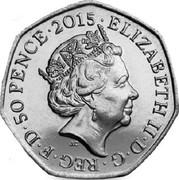 UK 50 Pence Battle of Britain 2015  ELIZABETH∙II∙D∙G REG∙F∙D∙50 PENCE∙2015 JC coin obverse